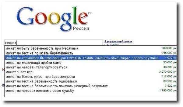 Прикольные поисковые запросы